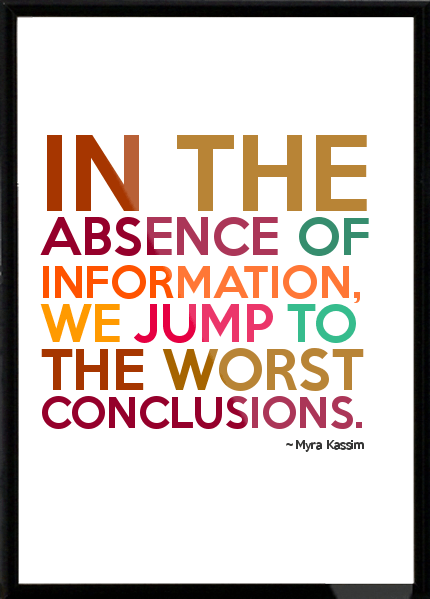 Myra-Kassim-In-the-absence-of-information-we-jump-to-the-worst-conclusions-Framed-Quote-780